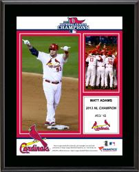 Matt Adams St. Louis Cardinals 2013 National League Champions Sublimated 10.5'' x 13'' Plaque - Mounted Memories