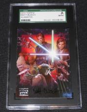 Matt Busch Signed Autograph 2011 Topps Star Wars Galaxy Card #111/716 SGC AUTH