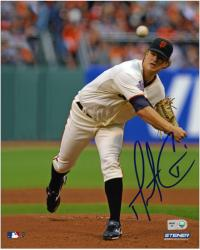 "Matt Cain San Francisco Giants Autographed 8"" x 10"" Pitch Photograph"
