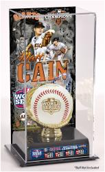 Matt Cain San Francisco Giants 2012 World Series Champions Baseball Display Case with Gold Glove & Plate - Mounted Memories
