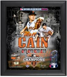 "Matt Cain San Francisco Giants 2012 World Series Framed 15"" x 17"" Collage with Game-Used Baseball - Limited Edition of 500 - Mounted Memories"