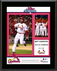 Matt Carpenter St. Louis Cardinals 2013 National League Champions Sublimated 10.5'' x 13'' Plaque - Mounted Memories