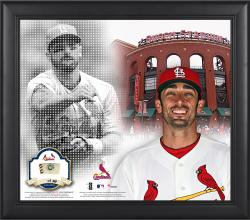 """Matt Carpenter St. Louis Cardinals Framed 15"""" x 17"""" Mosaic Collage with Game-Used Baseball-Limited Edition of 99"""