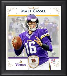 "Matt Cassel Minnesota Vikings Framed 15"" x 17"" Composite Collage with Piece of Game-Used Football"
