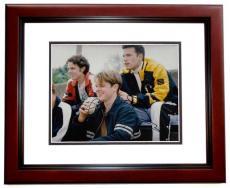 Matt Damon and Ben Affleck Signed - Autographed Good Will Hunting 8x10 Photo MAHOGANY CUSTOM FRAME