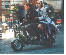 "MATT DAMON as TOM RIPLEY and GWYNETH PALTROW as MARGE SHERWOOD in ""THE TALENTED MR. RIPLEY"" Signed by Both 9x8 Color Paper Thin"