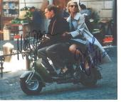 """MATT DAMON as TOM RIPLEY and GWYNETH PALTROW as MARGE SHERWOOD in """"THE TALENTED MR. RIPLEY"""" Signed by Both 9x8 Color Paper Thin"""