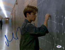 "Matt Damon Autographed 11"" x 14"" Good Will Hunting Photograph - PSA/DNA"