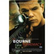 "Matt Damon Autographed 12"" x 18"" Bourne Supremacy Photograph - BAS"