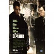 "Matt Damon Autographed 12"" x 18"" The Departed Photograph - BAS"