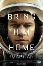 "Matt Damon Autographed 12"" x 18"" The Martian Movie Poster - PSA/DNA"