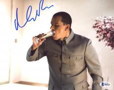 """Matt Damon Autographed 8"""" x 10"""" Oceans Thirteen Chugging Drink Photograph - Beckett COA"""
