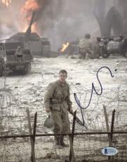 "Matt Damon Autographed 8""x 10"" Saving Private Ryan Holding Gun Photograph - BAS COA"