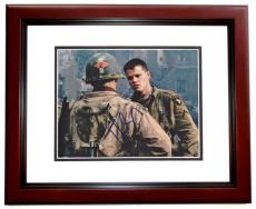 Matt Damon Signed - Autographed Saving Private Ryan 8x10 inch Photo MAHOGANY CUSTOM FRAME - Guaranteed to pass PSA or JSA