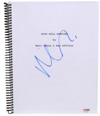 Matt Damon Autographed Good Will Hunting Replica Movie Script - PSA/DNA COA