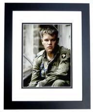 Matt Damon Signed - Autographed Saving Private Ryan 8x10 inch Photo BLACK CUSTOM FRAME - Guaranteed to pass PSA or JSA