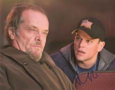 Matt Damon Autographed Signed 11x14 The Departed Jack Nicholson Photo UACC AFTAL