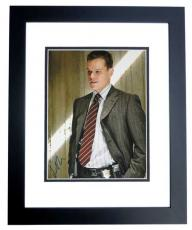 Matt Damon Signed - Autographed THE DEPARTED 11x14 inch Photo BLACK CUSTOM FRAME - Guaranteed to pass PSA or JSA