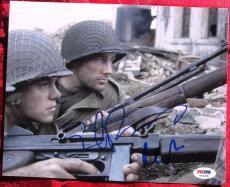 Matt Damon Edward Burns Saving Private Ryan 2x signed 8x10 photo PSA/DNA auto