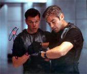 Matt Damon & George Clooney autographed 8x10 Photo (Oceans 11) Image #SC3