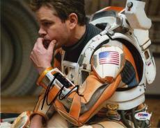 Matt Damon Martian Autographed Signed 8x10 Photo Certified Authentic PSA/DNA COA