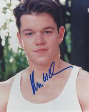 "MATT DAMON - Movies Include ""GOOD WILL HUNTING"", ""THE DEPARTED"", and ""THE LEGEND of BAGGER VANCE"" Signed 8x10 Color Photo"
