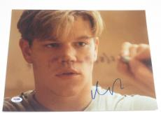 Matt Damon Signed 11x14 Photo Authentic Autograph Good Will Hunting Psa Coa