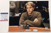 Matt Damon Signed 11x14 Photo Authentic Autograph Rounders Psa/dna Coa