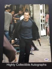 Matt Damon Signed 11x14 Photo Autograph Psa Dna Coa Bourne Ultimatum