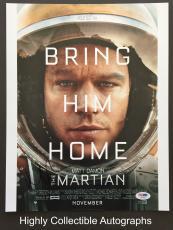 Matt Damon Signed 11x14 Photo Autograph Psa Dna Coa The Martian