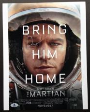 Matt Damon Signed 11x14 Photo Beckett Coa Autograph The Martian Bas