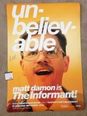 Matt Damon Signed 27x40 Original Movie Poster The Informant Psa Dna Coa