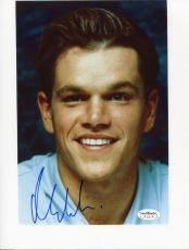 Matt Damon Signed 8.5 X 11 Vintage Photo Jsa