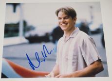 Matt Damon Signed 8x10 Photo Autograph Bourne Oceans Oscar Winner Proof Coa E1