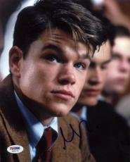 Matt Damon Signed 8X10 Photo Autographed PSA/DNA #X80172