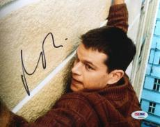 Matt Damon Signed 8x10 The Bourne Identity Photo PSA AD83878