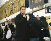 Matt Damon Signed 8x10 The Bourne Supremacy Photo PSA AD83856