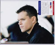 Matt Damon Signed Autograph Auto 8x10 Psa Dna Certified