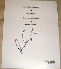 "Matt Damon Signed Autograph ""the Bourne Identity"" Full Movie Script With Coa"