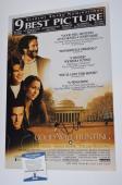 Matt Damon Signed Autographed 12x18 Poster Good Will Hunting Beckett BAS COA