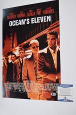 Matt Damon Signed Autographed 12x18 Poster Ocean's Eleven Beckett BAS COA