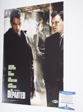 Matt Damon Signed Autographed 12x18 Poster The Departed Beckett BAS COA