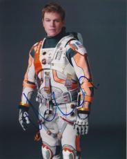 Matt Damon Signed Autographed 8x10 Photo The Martian Mark Watney B
