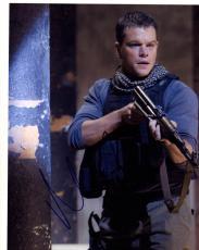 Matt Damon Signed Autographed 8x10 War Photo AFTAL