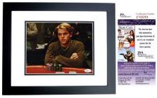 Matt Damon Signed - Autographed Rounders 8x10 Photo BLACK CUSTOM FRAME - JSA Certificate of Authenticity