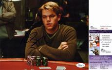 Matt Damon Signed - Autographed Rounders 8x10 Photo - JSA Certificate of Authenticity