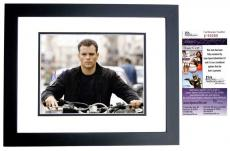 Matt Damon Signed - Autographed The BOURNE IDENTITY 11x14 inch Photo BLACK CUSTOM FRAME - JSA Certificate of Authenticity