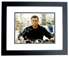 Matt Damon Signed - Autographed The Bourne Ultimatum - Jason Bourne 8x10 inch Photo - Guaranteed to pass PSA/DNA or JSA - BLACK CUSTOM FRAME