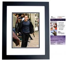 Matt Damon Signed - Autographed The Departed 11x14 Photo BLACK CUSTOM FRAME - JSA Certificate of Authenticity
