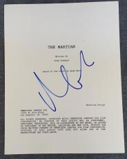 Matt Damon Signed Autographed THE MARTIAN Full Movie Script Screenplay COA